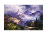 Index Peak, Yellowstone National Park Premium Giclee Print by Thomas		 Moran