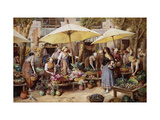 The Flower Market, Toulon Giclee Print by Myles Birket		 Foster