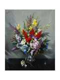 Still Life with Buddleia, Hydrangea and Clematis Giclee Print by Vernon		 Ward