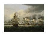 The Battle of Doggerbank, 5 August 1781 Poster by Thomas		 Luny