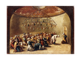 Turks at Prayer in a Mosque Giclee Print by Giovanni Antonio		 Guardi