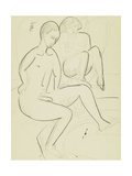 Young Couple in the Bathroom Giclee Print by Ernst Ludwig Kirchner