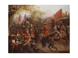 Hail! Here comes the conquering Hero Giclee Print by Edward Henry		 Corbould
