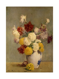 Asters in a Canton vase Giclee Print by Soren Emil		 Carlsen