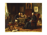 A Game of Chess Giclee Print by Gerard Jozef		 Portielje