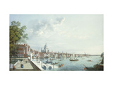 The Thames from Somerset House, Looking Downstream Giclee Print by William		 James