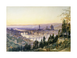 Florence from San Miniato Reproduction giclée Premium par Arthur		 Severn