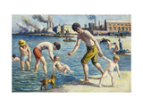 Bathers Art by Maximilien Luce