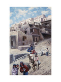 Pueblo Village Art by John		 Hauser