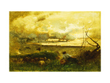Golden Sunset Giclee Print by Sr., George Inness