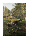 By the River, Apperup Premium Giclee Print by Frants		 Henningsen