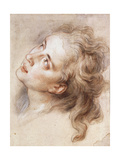 The Head of an Angel, Looking up to the Left Giclee Print by Charles Antoine		 Coypel