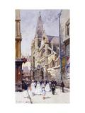Les Communiantes a Paris Giclee Print by Eugene Galien-Laloue