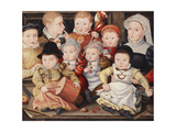 Group Portrait of Children Giclee Print by Ludger Tom Ring the Younger