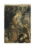 An Illustration to The Rheingold and the Valkyrie: 'Sieglinde' Giclee Print by Arthur		 Rackham