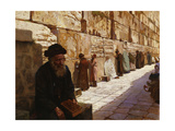 The Wailing Wall, Jerusalem Giclee Print by Wassilij Ivanowitsch		 Nawasoff