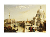 View of St. Marks from the Punta Della Dogana, Venice Giclee Print by Edward		 Pritchett