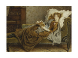 A Young Lady Reading in an Interior Giclee Print by George Goodwin Kilburne
