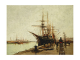 A Harbour Posters by Eugene		 Galien-Laloue