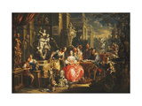 An Allegory of the Visual Arts Premium Giclee Print by Johann Georg		 Platzer