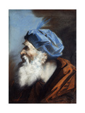 A Head of Joseph of Arimethaea, Looking to the Left Giclee Print by Jean-Baptiste Jouvenet