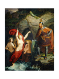 Hagen and The Rhine Maidens Giclee Print by Hermann Martin Muller