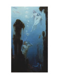 A Deep Sea Fantasy Giclee Print by Charles Courtney Curran