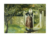 At the Garden Gate Giclee Print by Michael		 Ancher