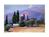 Farm House in Provence Reproduction procédé giclée par William James		 Glackens