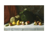 Tabletop Still Life of Fruit Print by George		 Hetzel