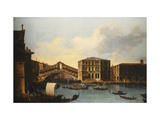 The Rialto Bridge, venice, from the North Giclee Print by  Venetian School