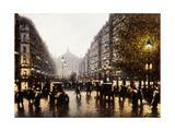 A Street Scene, Paris Giclee Print by Gaspar Miro Lleo