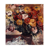 Zinnien Prints by Lovis		 Corinth