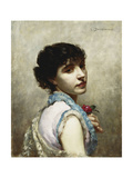 The Rose Giclee Print by Louis		 Desmarest