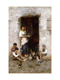 Mealtime Giclee Print by Giuseppe Zannoni