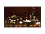 A Gentlemans Table Giclee Print by Claude Raguet		 Hirst