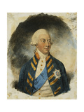 Portrait of King George III, wearing Windsor Uniform and Ribbon and Star of the Garter Giclee Print by John		 Downman