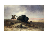 Buffalo Hunt Prints by Astley David Middleton		 Cooper