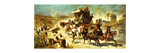 The Spanish Mail Coach in Toledo Premium Giclee Print by Alexander Wagner