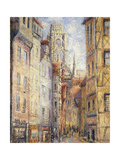 Rouen, a Street by the Church Prints by Gustave		 Loiseau