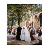 The First Communion Giclee Print by Ernest		 Desurmont