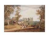 The North-West Front, Cassiobury, with Hounds and Huntsmen Prints by J. M. W. Turner