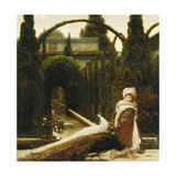 Moorish Garden; a Dream of Granada Poster by Frederick Leighton
