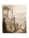 In the Bazaar Giclee Print by Georg Emanuel		 Opiz