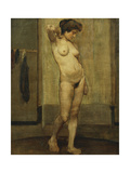 Standing Nude Giclee Print by Henri Jacques Edouard		 Evenepoel