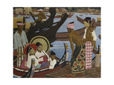 Crossing the River, Burma Giclee Print by Ernest		 Procter