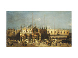 San Marco and the Doge's Palace, Venice, from the Piazza San Marco Posters by  Canaletto