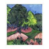 Landscape with Chestnut Tree Impression giclée par Ernst Ludwig Kirchner
