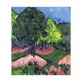 Landscape with Chestnut Tree Posters by Ernst Ludwig Kirchner