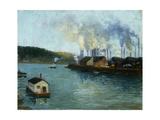 Harbor Scene Giclee Print by Aaron Harry Gorson